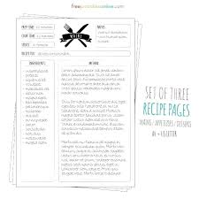 recipe book template mac cookbook for pages