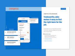 Tradeworthy Jobs Marketing Website By Sara Riedel For Zoco