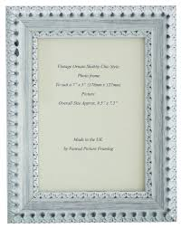 a range of high quality hand made ornate white and silver sheen wooden shabby chic photo frames for 6 x 4 16 x 12 pictures