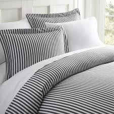 ribbon patterned performance gray queen 3 piece duvet cover set