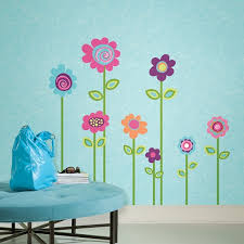flower decals for walls flower stripe giant wall decals for dorm room walls
