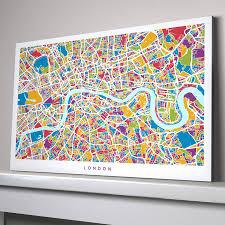 london map canvas version