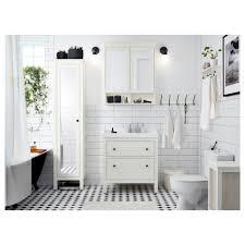 Bathroom High Cabinet Hemnes High Cabinet With Mirror Door White Ikea