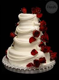 beautiful white and red wedding cakes.  And Ivory Or White Layered Tiered Wedding Cake With Red Roses And Drapery U2013 Cake  By Freeds Bakery Las Vegas Intended Beautiful White And Red Wedding Cakes I