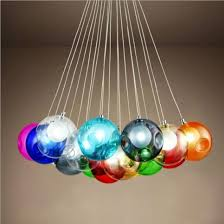 multi color glass pendant lights new
