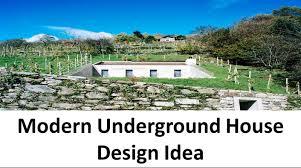 Build Underground Home Modern Underground House Design Idea With Concrete Structure Youtube