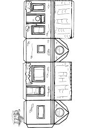 Huis Knutselen 1 Kleurplaat Huizen