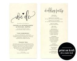 Free Printable Wedding Ceremony Programs Free Printable Wedding Program Templates Free Wedding Ceremony