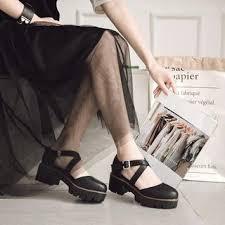 Yesstyle Shoe Size Chart Faux Leather Platform Low Heel Sandals