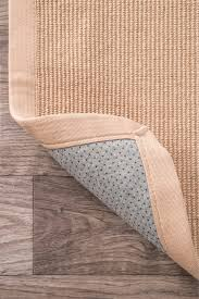 natural fiber reversible cotton border jute rug