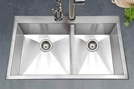 top zero sinks. Beautiful Zero Houzer Bellus Series BCD3322 Double Bowl Top Mount Kitchen Sink   6040 Double Bowl Intended Top Zero Sinks