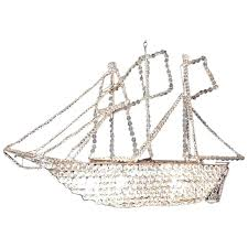 late c french crystal ship chandelier for sailing id f crystal ship chandelier