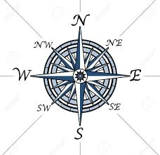 Compass Rose On White Background Representing A Cartography ...
