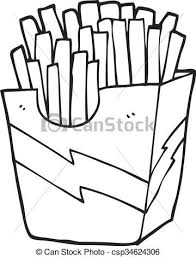 french fries clipart black and white. Interesting Clipart Black And White Cartoon French Fries  Csp34624306 To French Fries Clipart Black And White R