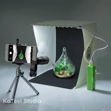 2018 koteel mini photography studio light tent light room light box kit with led lighting two backgroundblack white cell phone lens from kickoff
