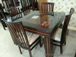 Glass top dining tables Berkley Used Dining Tables Online In Faridabad Home Office Furniture In Faridabad Quikr Used Dining Tables Online In Faridabad Home Office Furniture In