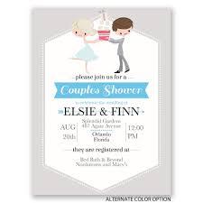 Couple Wedding Shower Invitations Cute Couple Petite Wedding Shower Invitation Invitations By Dawn