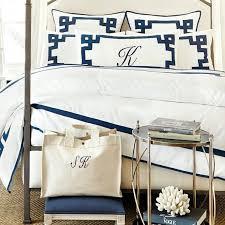 details about suzannekasler greek key king bedding linen 1 king sham 49 99 h monogram