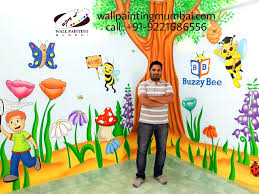 on wall art designs for preschool with preschool wall painting wall mural