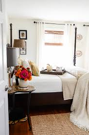 fall decor in the guest room stonegable
