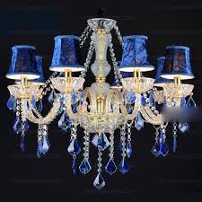 elegant blue crystal chandelier light gorgeous fabric shade 8 light blue crystal chandelier