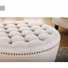 round fabric ottoman.  Ottoman Better Homes And Gardens Round Tufted Storage Ottoman With Nailheads  Multiple Finishes  Walmartcom Intended Fabric