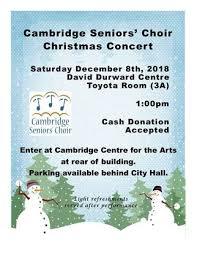 Christmas Concert Poster Cambridge Seniors Choir Christmas Concert On December 08 2018