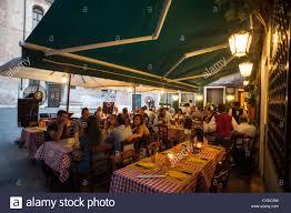 Italian Restaurants Design District Miami Italian Restaurant Terrace Night Stock Photos Italian