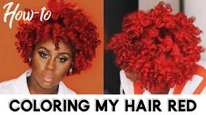 how i d my natural hair bright red