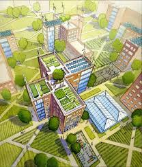 and even utilising roofs for urban agriculture image courtesy alexander gorlin architects