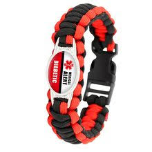 diabetic type 1 2 cal alert 25 18mm gl cabochon outdoor survival paracord charm bracelets men women hiking cing gift