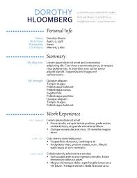 simple resume templates • hloom comno point left out