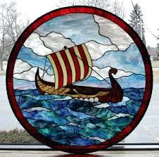 nautical stained glass window panels bent slag style menards