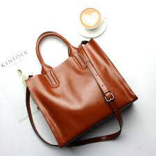 tan leather handbags middle sized shoulder tote bags