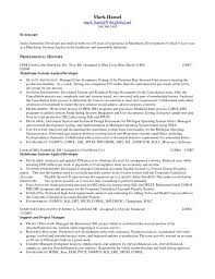 Resume Career Summary Examples Writing Sample Mainframe Temp Sevte