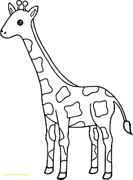 Unique Giraffe Colouring Pictures Free Printable Coloring Pages For