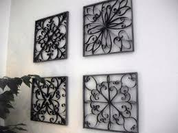 diy faux wrought iron wall art