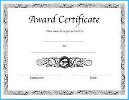 Sample Awards Certificate Award Certificate Template Black And White Sample 3894