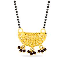 black bead gold design mangalsutra
