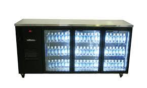 williams cameo star hc3ugb 3 glass door back bar fridge