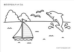 無料の塗り絵海の検索結果 ぬりえやさんドットコム