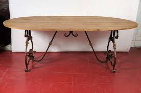 french oval metal base dining table at 1stdibs 2 round coffee tables