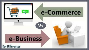 E Commerce Chart E Business E Commerce Vs E Business Difference Between
