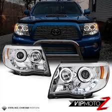 Euro Angel Eye Halo Chrome Projector Headlight 2005-2011 Toyota ...