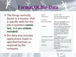 how to make bio data format how make a for job latest resume example of personal bio data