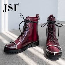 <b>JSI Brand Women Ankle</b> Boots New Fashion Genuine Leather Slip ...