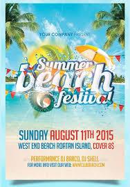Beach Flyer 58 Summer Flyer Designs In Pritables Psd Eps Word Design Trends