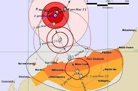 Category Four Cyclone Veronica Approaching Wa Coast Abc