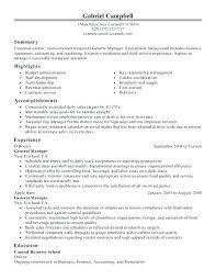 Sample Resume For Restaurant Jobs Englishor Com