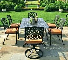 cast aluminum patio furniture spray paint chair table by 6 person luxury winter care